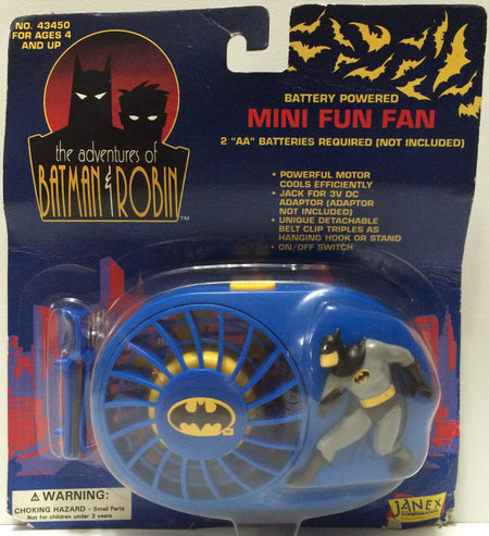 (TAS031688) - 1994 Janex The Adventures of Batman & Robin - Mini Fun Fan, , Other, Batman, The Angry Spider Vintage Toys & Collectibles Store  - 1