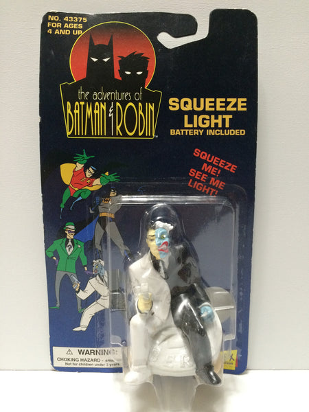(TAS031692) - 1994 Janex The Adventures of Batman & Robin Squeeze Light Two Face, , Lights & Lamps, Batman, The Angry Spider Vintage Toys & Collectibles Store  - 1