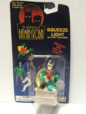 (TAS031693) - 1994 Janex The Adventures of Batman & Robin Squeeze Light Robin, , Lights & Lamps, Batman, The Angry Spider Vintage Toys & Collectibles Store  - 1