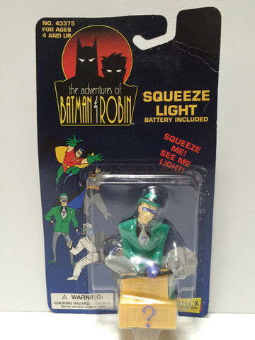 (TAS031694) - 1994 Janex The Adventures of Batman & Robin Squeeze Light Riddler, , Lights & Lamps, Batman, The Angry Spider Vintage Toys & Collectibles Store  - 1