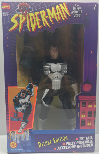 "TAS040513 - 1995 Toy Biz Marvel Spider-Man Deluxe 10"" Tall - The Punisher"