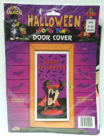 (TAS031708) - 1996 Looney Tunes Halloween Door Cover - Taz, , Other, Looney Tunes, The Angry Spider Vintage Toys & Collectibles Store  - 1