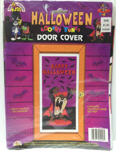 (TAS031710) - 1996 Looney Tunes Halloween Door Cover - Taz, , Other, Looney Tunes, The Angry Spider Vintage Toys & Collectibles Store  - 1