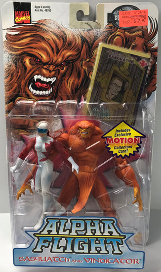 TAS040261 - 1999 Toy Biz Marvel Alpha Flight Sasquatch And Vindicator Figures