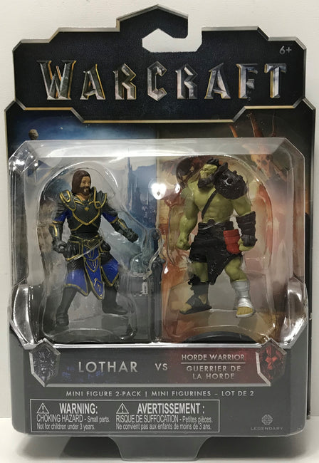 TAS038771 - 2016 Jakks Warcraft Mini Figures - Lothar vs Horde Warrior