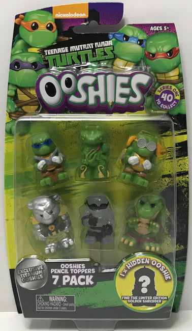 TAS038788 - 2017 Jakks Teenage Mutant Ninja Turtles Ooshies 7 Pack