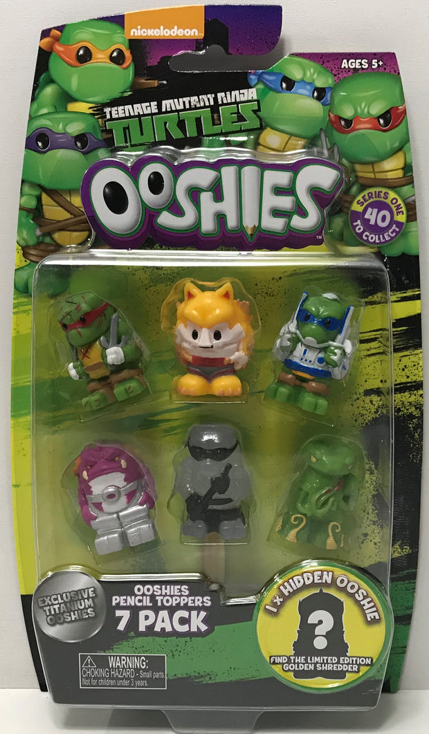 TAS038789 - 2017 Jakks Teenage Mutant Ninja Turtles Ooshies 7 Pack