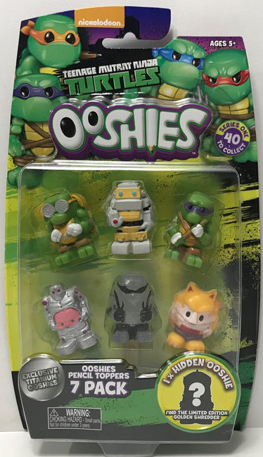 TAS038982 - 2017 Jakks Teenage Mutant Ninja Turtles Ooshies 7 Pack Dogpound