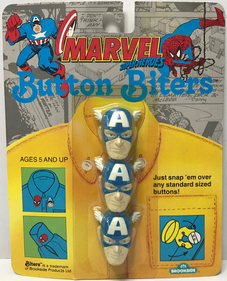 TAS039252 - 1991 Brookside Marvel Super Heroes Button Biters Captain America