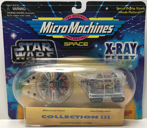 TAS039285 - 1995 Galoob Micro Machines Star Wars X-Ray Fleet Millennium Falcon