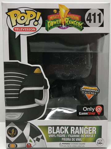 TAS039377 - 2017 Funko Pop! Vinyl Figure Mighty Morphin Power Rangers Black Ranger #411