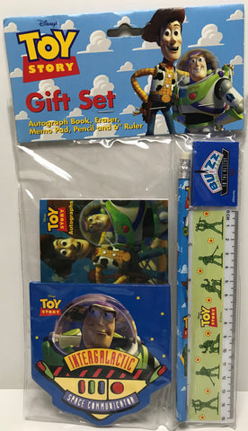 TAS039379 - Disney Toy Story Gift Set Autograph Book, Eraser, Pad, Blue Pencil,