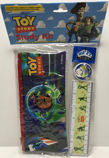 "TAS039380 - Disney Toy Story Study Kit - Pencil Pouch, Sharpener, Blue Eraser, 6"" Ruler"