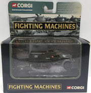 (TAS033550) - Corgi Fighting Machines C590050 Die-Cast M3 A1 Half Track Carrier, , Trucks & Cars, n/a, The Angry Spider Vintage Toys & Collectibles Store  - 1