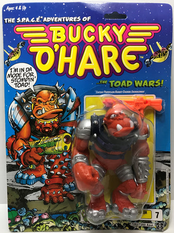 TAS039420 - 1990 Hasbro Bucky O'Hare The Toad Wars Figure - Bruiser