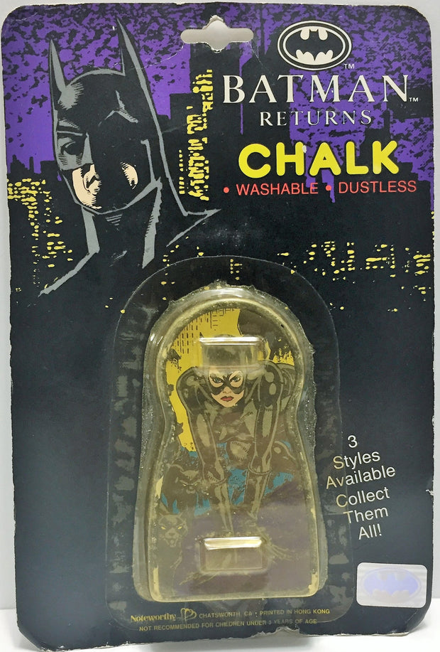 (TAS033575) - 1991 Noteworthy Batman Returns Vintage Chalk Style 1 CatWoman, , Action Figure, Batman, The Angry Spider Vintage Toys & Collectibles Store  - 1