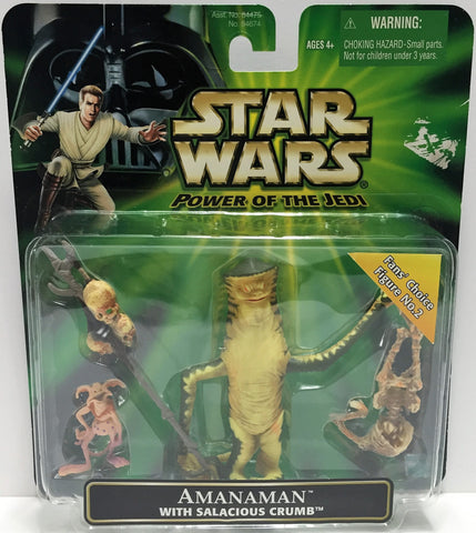 (TAS033578) - 2001 Hasbro Star Wars Power Of The Jedi Action Figure Amanaman, , Action Figure, Star Wars, The Angry Spider Vintage Toys & Collectibles Store  - 1