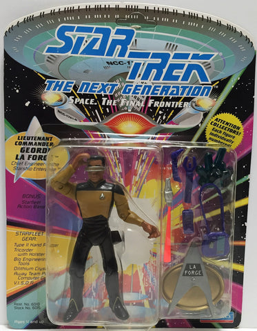(TAS033581) - 1992 Playmates Star Trek The Next Generation Geordi LaForge, , Action Figure, Star Trek, The Angry Spider Vintage Toys & Collectibles Store  - 1