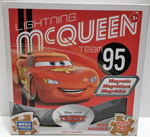 (TAS033584) - 2014 Disney Pixar Cars Mega Puzzles Wood 25 Lightning McQueen, , Puzzles, Disney, The Angry Spider Vintage Toys & Collectibles Store  - 1