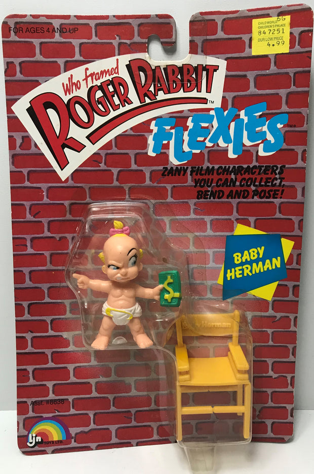 Tas039532 1988 Ljn Who Framed Roger Rabbit Flexies Baby Herman The Angry Spider Vintage Toys Collectibles Store