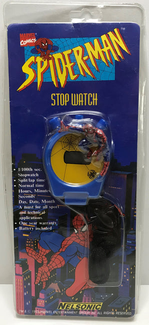 TAS040289 - 1995 Nelsonic Marvel Comics Spider-Man Stop Watch