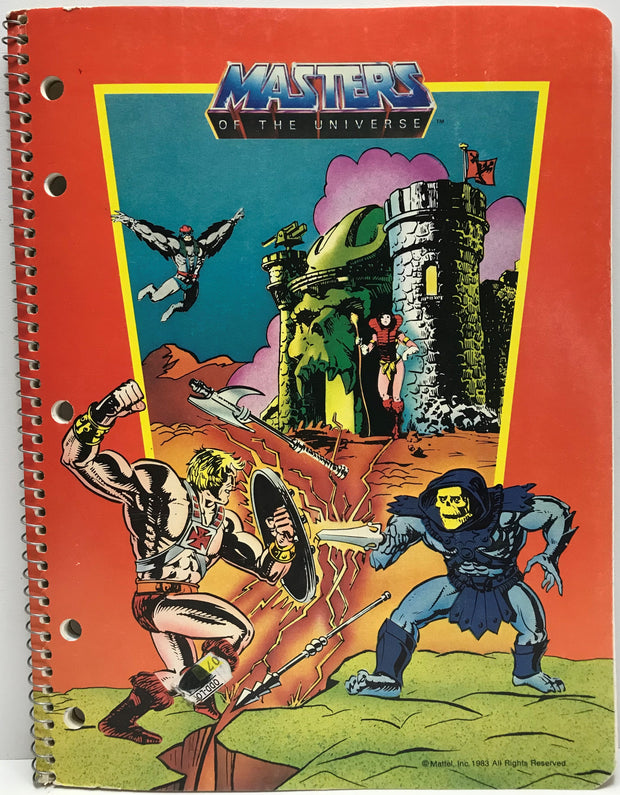 TAS040118 - 1983 Mattel Masters Of The Universe Theme Book - He-Man Skeletor
