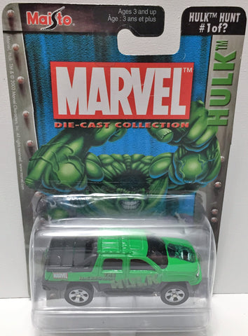(TAS034160) - 2003 Marvel Die-Cast Collection Hulk Ed - 2002 Chevrolet Avalanche, , Trucks & Cars, Marvel, The Angry Spider Vintage Toys & Collectibles Store  - 1