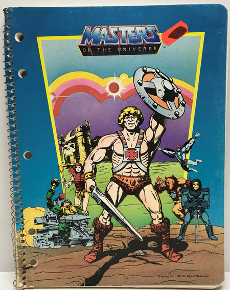 TAS040121 - 1983 Mattel Masters Of The Universe Theme Book - He-Man Shield