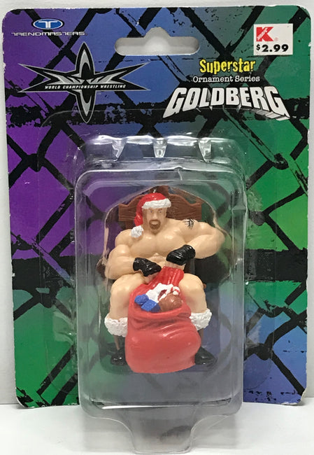 TAS040443 - 1999 Trendmasters WCW WWE Superstar Ornament Series - Goldberg