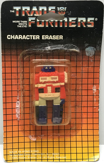 TAS040628 - 1985 Hasbro The Transformers Character Eraser Optimus Prime (Used)