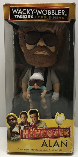 TAS040655 - 2014 Funko Wacky-Wobbler Talking Bobble-Head The Hangover Alan