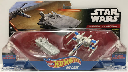 TAS040668 - 2014 Mattel Hot Wheels Die-Cast Star Wars Transporter vs X-Wing