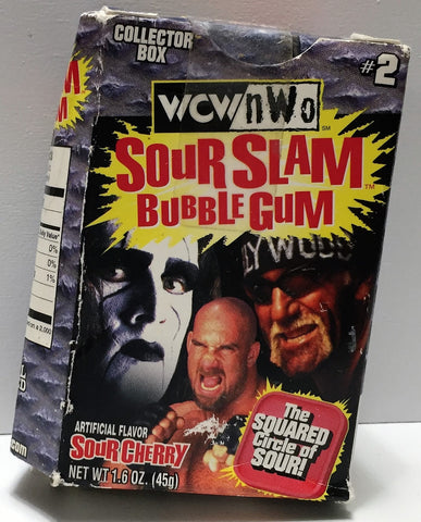 (TAS033647) - 1999 WCW nWo Wrestling Sour Slam Bubble Gum - Sour Cherry, , Other, Wrestling, The Angry Spider Vintage Toys & Collectibles Store  - 1