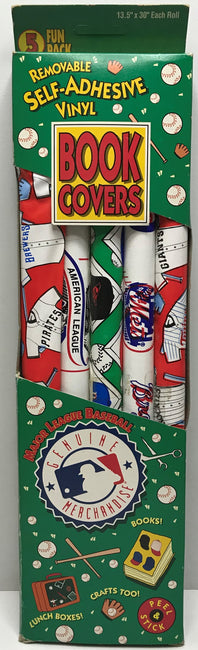 TAS040710 - Kittrich Major League Baseball Removable Self-Adhesive Book Covers