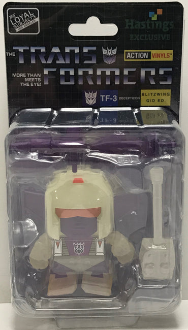TAS040716 - 2015 Hasbro The Transformers Action Vinyls TF-3 Blitzwing GID ED.