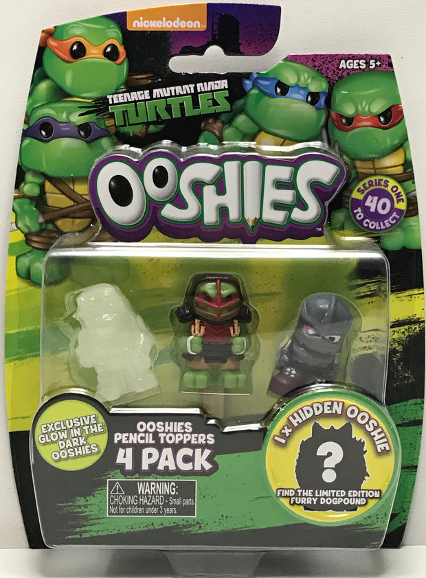 TAS040720 - 2016 Jakks Teenage Mutant Ninja Turtles Ooshies 4 Pack Dojo Raphael
