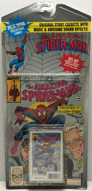 TAS040827 - 1990 Marvel Original Story Cassette The Amazing Spider-Man
