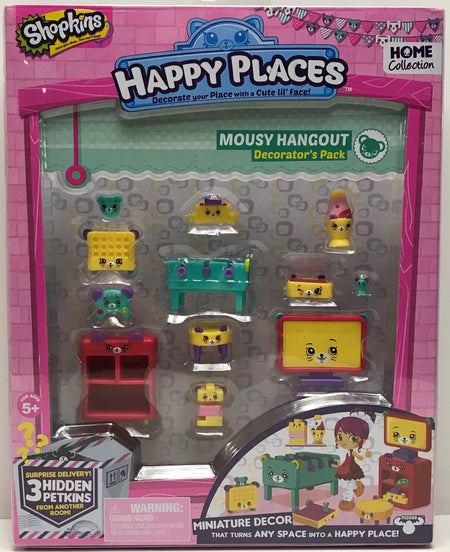 TAS039693 - 2015 Moose Toys Shopkins Happy Places Mousy Hangout Decorator's Pack