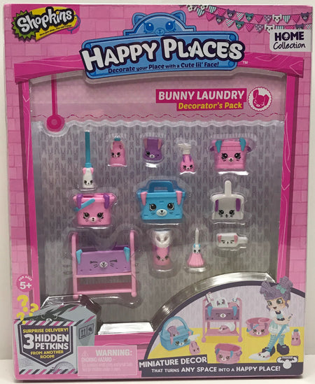 TAS039694 - 2015 Moose Toys Shopkins Happy Places Bunny Laundry Decorator's Pack