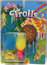 (TAS033718) 1992 The Magical World of Baby Trolls (Pink & Yellow), , Dolls, Creata International, The Angry Spider Vintage Toys & Collectibles Store  - 1