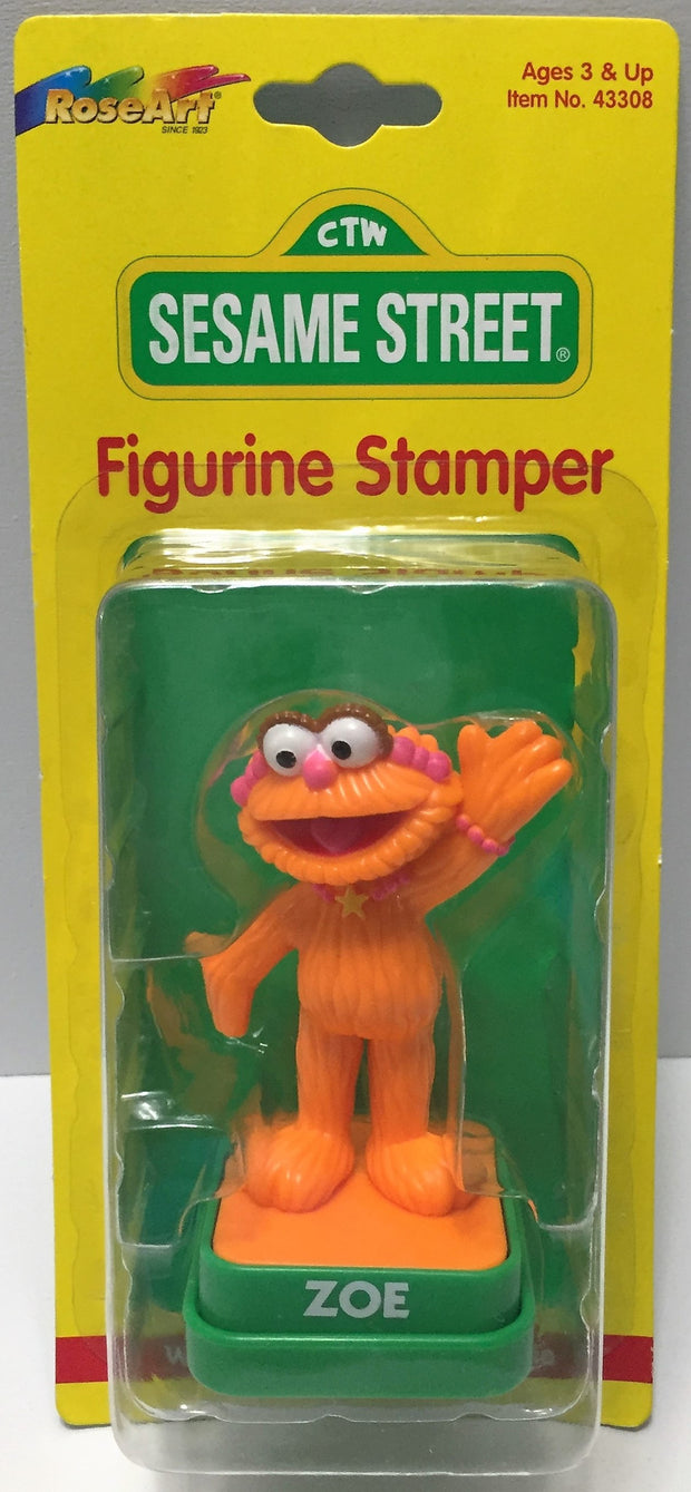 (TAS033696) - 1997 Rose Art Sesame Street Collectible Figurine Stamper - Zoe, , Stampers, Sesame Street, The Angry Spider Vintage Toys & Collectibles Store  - 1