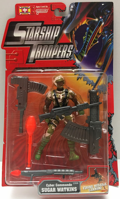 (TAS000800) - 1997 Galoob Starship Troopers Cyber Commando Sugar Watkins Action