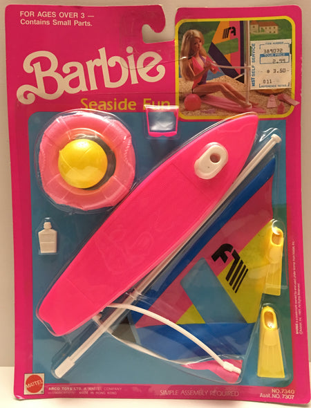 (TAS000027) - 1989 Mattel Barbie Seaside Fun Surf Board