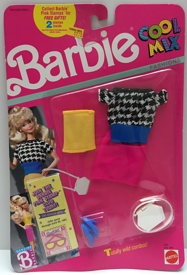 (TAS000511) - 1989 Mattel Barbie Cool Mix Fashions