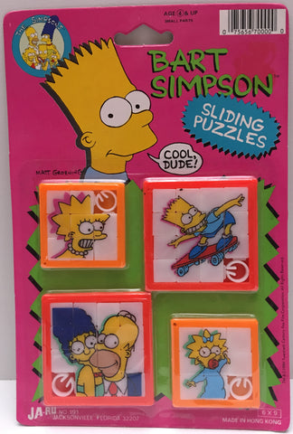(TAS000209) - 1990 Ja-Ru The Simpsons Sliding Puzzles - Bart Simpson