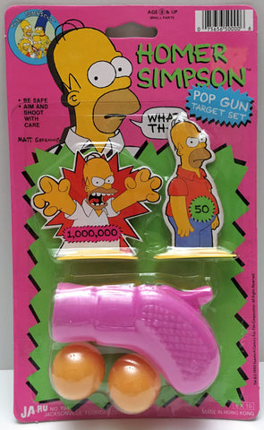 (TAS000019) - 1990 Ja-Ru The Simpsons Pop Gun Target Set - Homer