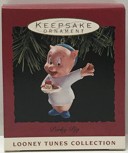 TAS040944 - 1993 Hallmark Keepsake Ornament Looney Tunes Porky Pig