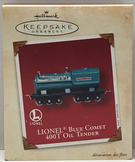 TAS040947 - 2002 Hallmark Keepsake Ornament Lionel Blue Comet 400T Oil Tender