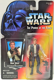 (TAS033782) - 1995 Tonka Star War The Power of the Force Figure - Han Solo, , Action Figure, Star Wars, The Angry Spider Vintage Toys & Collectibles Store  - 1
