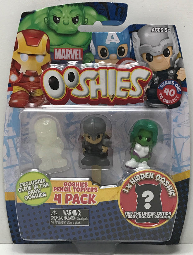 TAS041005 - 2017 Jakks Marvel Ooshies Pencil Toppers Thor She Hulk